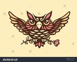 Vector Owl Illustration Stock Vector 428763655 - Shutterstock