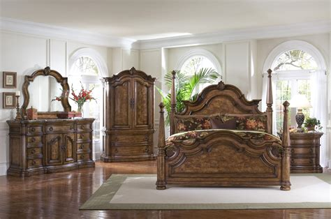 california king poster bedroom sets buy san mateo poster bedroom set by pulaski from www