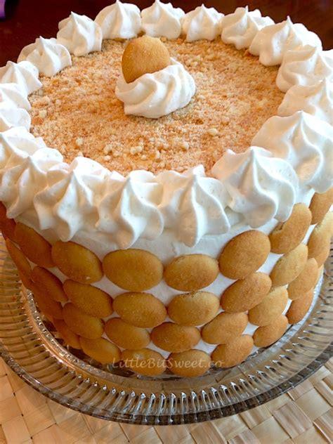 banana pudding cake  bit sweet