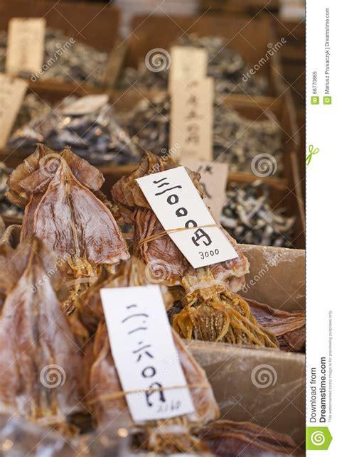 干鱼,海鲜产品在从日本的市场上 库存图片. 图片 包括有 - 66770865