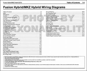 2012 Hybrid Ford Fusion Lincoln Mkz Wiring Diagram Manual