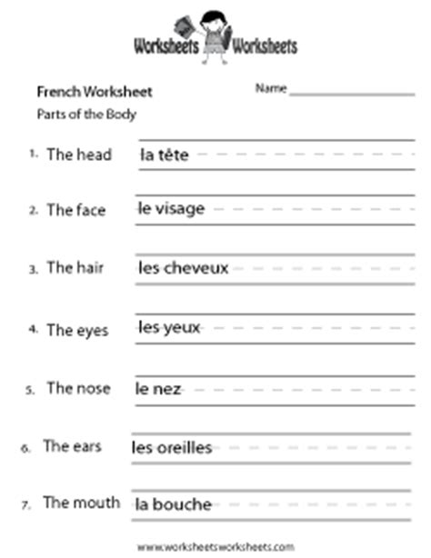 french worksheets free printable worksheets for teachers