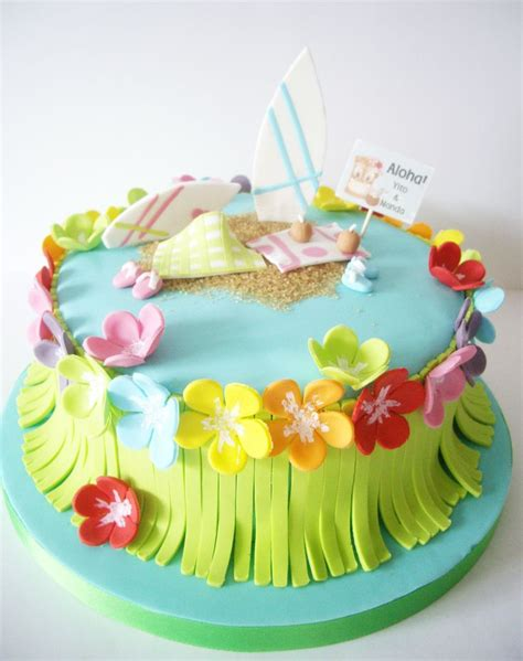 Hawaiian Cake Decorations by Hawaii Cake For Mia S B Day Party Amp Shower Ideas
