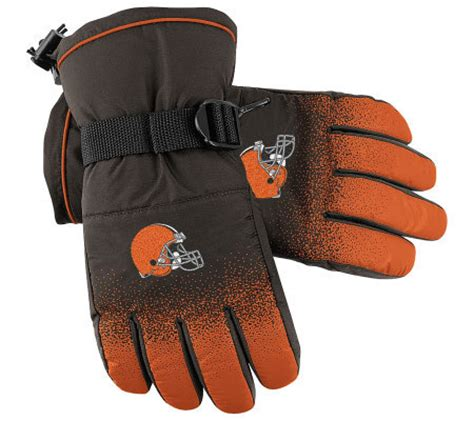 nfl cleveland browns  sideline player winter gloves