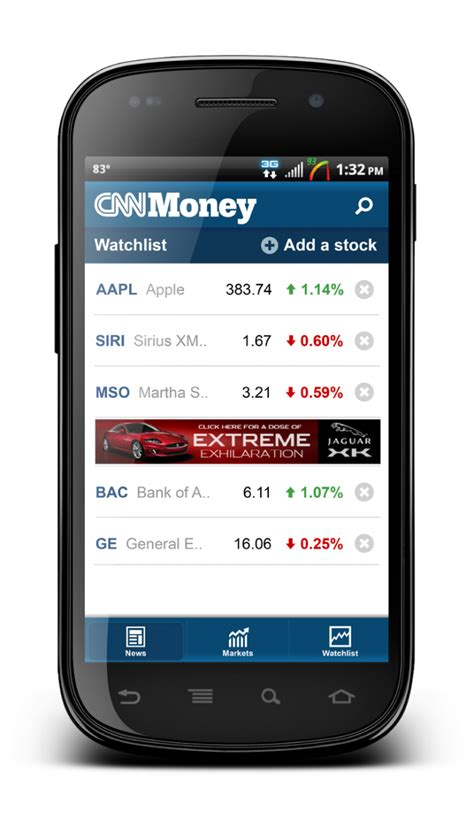 android money cnnmoney app now available in the android market android