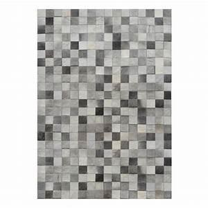 Tapis Cuir Patchwork : tapis en cuir patchwork gris 140x200 cm koya design ~ Teatrodelosmanantiales.com Idées de Décoration