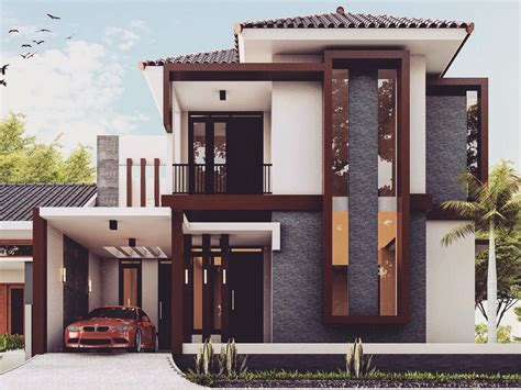 gambar tampak depan rumah minimalis    lantai