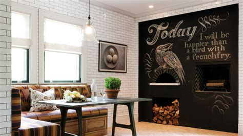 chalkboard accents   dining room spaces home design