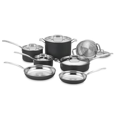 cuisinart cookware multiclad piece unlimited aluminum lids lid lowes pc upcitemdb sets 12n mcu included anodized hard larger