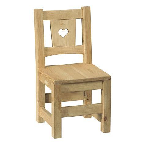peindre chaise en bois non chaise enfant en pin brut prêt à peindre avec coeu