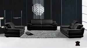 osez les meubles design en complement de stores modernes With salon cuir moderne design