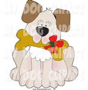 Cute Christmas Puppy Clip Art