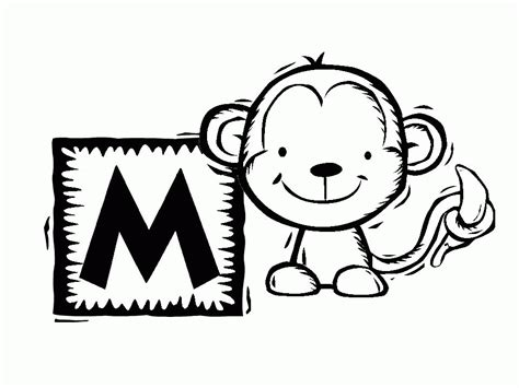 Free Printable Monkey Coloring Pages
