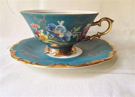 German Antique Tea Cups Saucers