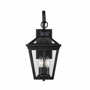 Savoy House Ellijay Black Three Light Nine Inch Outdoor