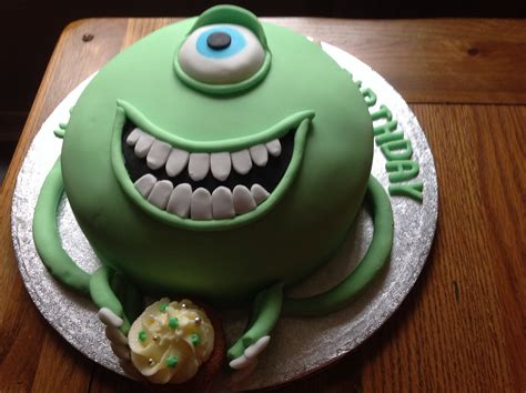 mike wazowski  monsters  cake goodfoodseeking