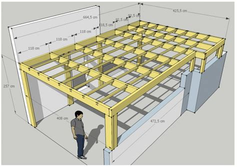 plaque de zinc pour cuisine construire une charpente de garage 7 carport toit plat abt construction bois ladaire bois