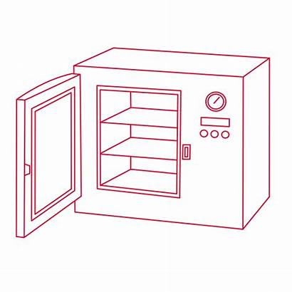 Laboratory Lab Oven Incubators Drawing Ovens Icons