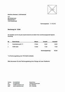 Als Privatperson Rechnung Schreiben : kostenlose rechnungvorlage musterrechnung u a als pdf lexoffice ~ Themetempest.com Abrechnung