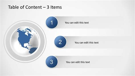 table  content   powerpoint slidemodel