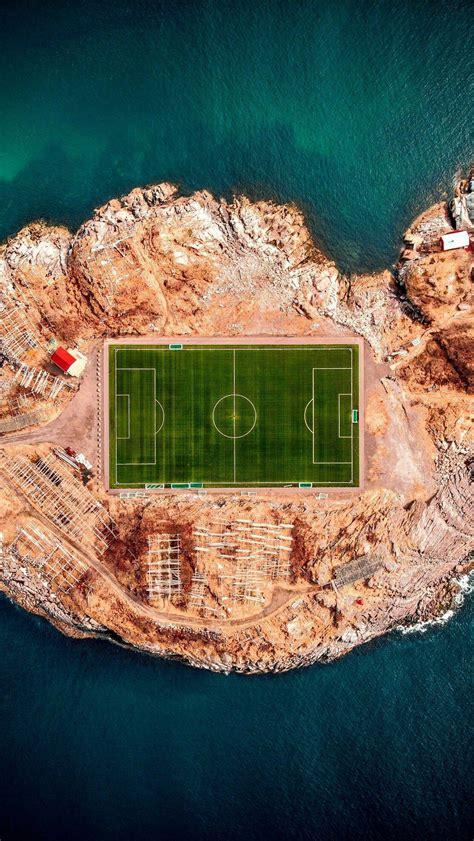 football stadium  henningsvaer iphone wallpaper iphone