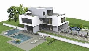 Grundriss Villa Modern : dekoration ideen moderne villa grundriss 3d mit wohnung ~ Lizthompson.info Haus und Dekorationen