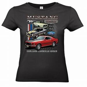 Ladies Ford Mustang Licensed T-Shirt Classic Vintage V8 Muscle Car Collage Pony - Hot Rod 58