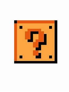 """Mario question block"" Stickers by Biphyn-Kjimburr Redbubble"