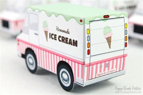 ice cream truck favor box print  home full color