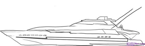How To Draw A Speedboat Easy by How To Draw A Yacht Step By Step Boats Transportation