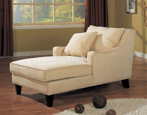 chaise lounge sofa microfiber classic chaise lounge w cappuccino finish base