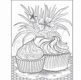 Coloring Dessert Printables Pdf sketch template