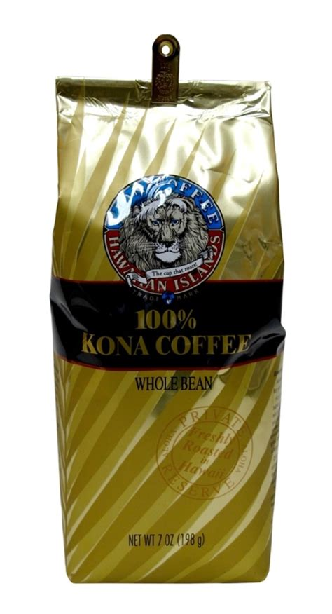 Kona Coffee   LION 7 oz 100% Pure Kona Coffee Beans   Kona Coffee Company