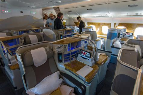 int 233 rieur de la classe d affaires des porteurs airbus a380 du monde photo stock 233 ditorial