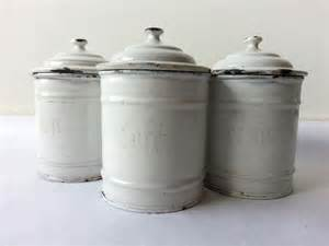 white canisters for kitchen 1930 39 s kitchen white canisters set of 3