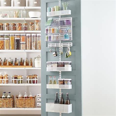 Food Pantry Rack by Elfa Utility White Mesh Pantry Door Wall Rack Best