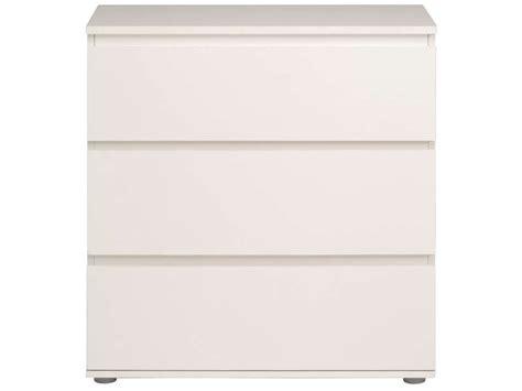 poignee meuble de cuisine commode 3 tiroirs neo coloris blanc vente de commode