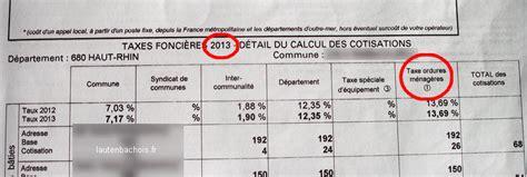 montant taxe ordure menagere taxe fonci 232 re poubelles 2015 versus 2013 osons la comparaison lautenbachois fr