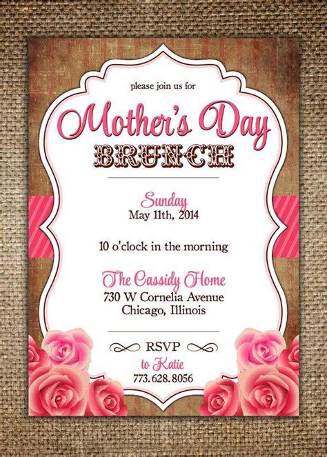 mothers daybirthday invitation vintage design