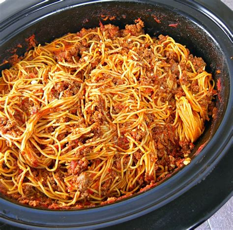 cooker spaghetti slow cooker spaghetti with meat sauce