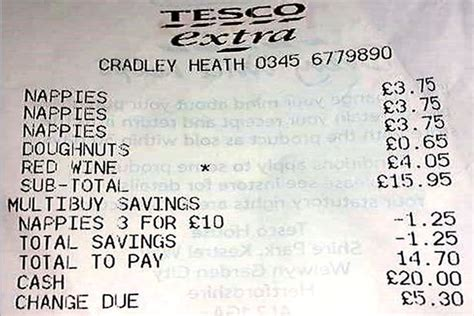 receipt   tesco car park perfectly sums  life
