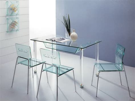 perspex dining table and chairs 5457