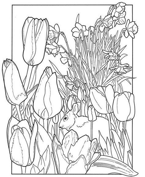 kolorowanki dla doroslych wiosna  wydruku