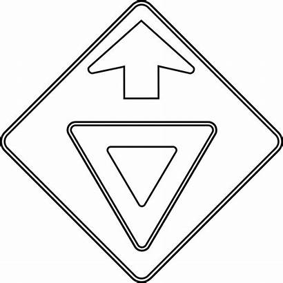 Sign Stop Outline Coloring Traffic Pages Clipart