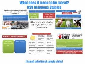 what does it mean to be moral ks3 moral philosophy