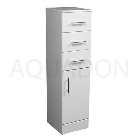Slim Bathroom Unit by 300mm X 320mm Slim Storage Unit Gloss White Drawer