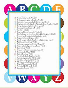 abc scriptures pdf for kids sunday school teaching and With bible alphabet letters