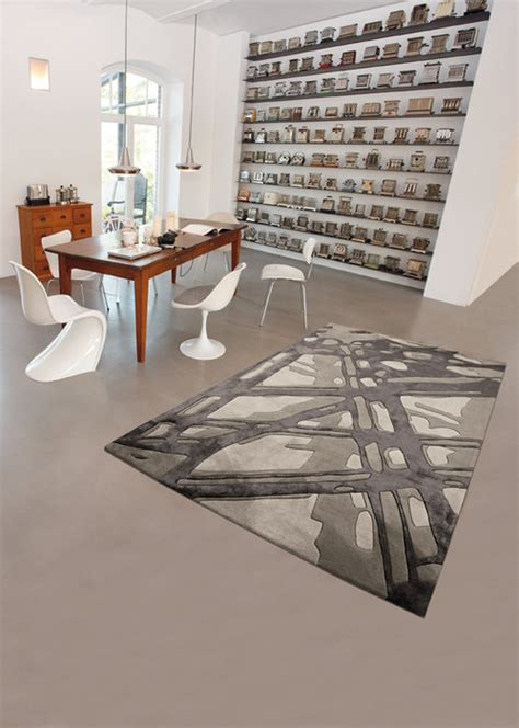 chambre en gris tapis moderne gris photo 8 10 joli tapis moderne de