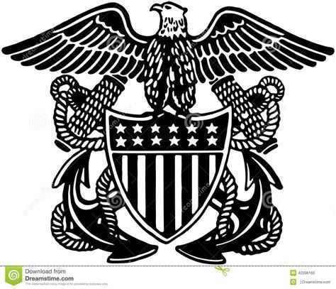 navy officer crest stock vector image