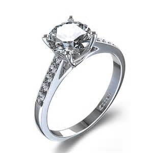 1 6 ctw classic engagement ring in 14k white gold canada - Classic Engagement Rings